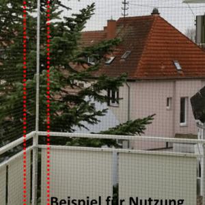 Ecke für Katzennetz System Bausatz