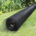 Katzennetz schwarz, 2m breit, Kunststoff
